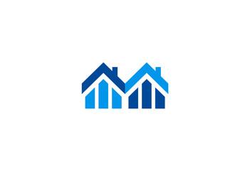 homes realty abstract vector logo