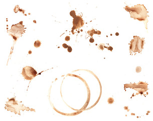 Coffee Splatters And Coffee Ring