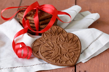 dessert for the day of St. Valentine cookies