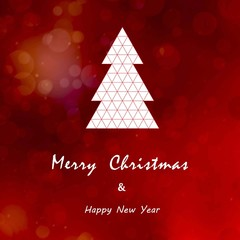 christmas and happy new year card background vector
