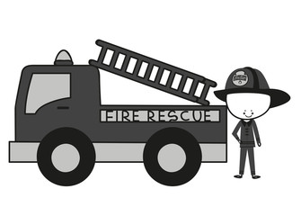 Doodle Firefighters Fire Rescue