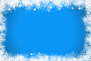 Colourful light blue and white christmas background