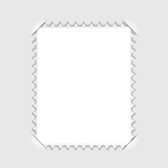Blank stamp frame Isolated on white background