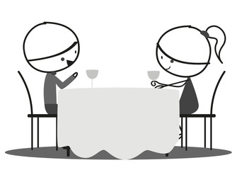 Doodle Romantic date
