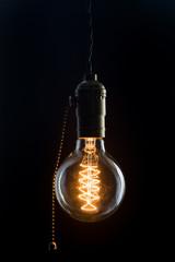 Vintage incandescent Edison type bulb