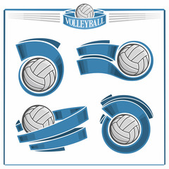 Volleyball emblems