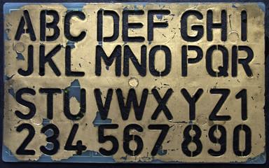 old stencil
