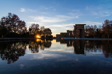 temple Debod in Madrid