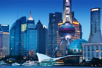 Fototapete - Shanghai at night, China