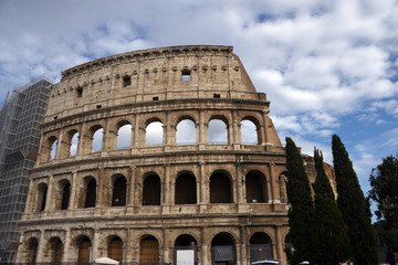 View of the Coliseum in Rome
