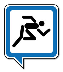 Logo coureur.