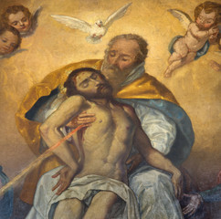 Seville - The detail of Holy Trinity paint