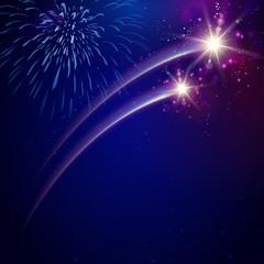 Feuerwerk Schweif