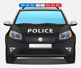 Vector Police Car #1 - Front view