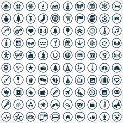 100 new year icons.