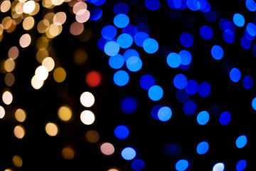 Abstract Background with Bokeh for Christmas and New years festi