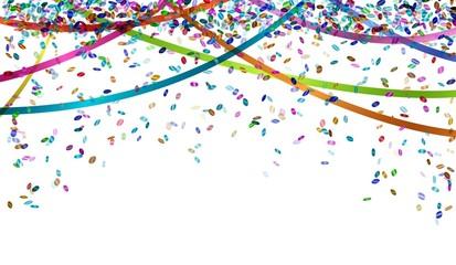 falling color confetti