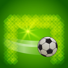 score-a-goal-football-ball-on-green-glowing-background