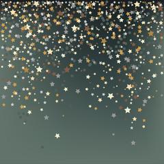 Confetti, New Year's celebration - vector background
