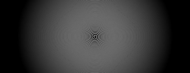 Foto op Plexiglas Spiraal spirale weiß zentrum bewegung