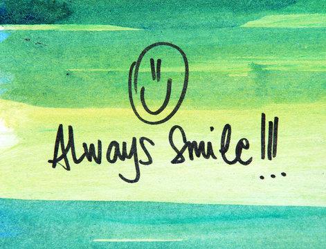 always smile text