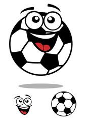 Soccer ball smiling cartoon character