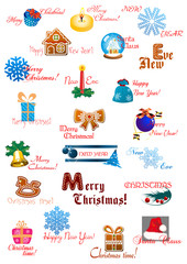 Traditional Christmas decoration elements