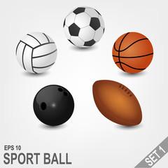 Sport Balls Set Part 1