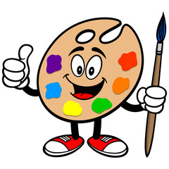 Art Palette with Thumbs Up
