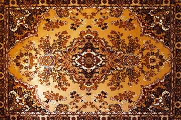 old carpet with national ornament