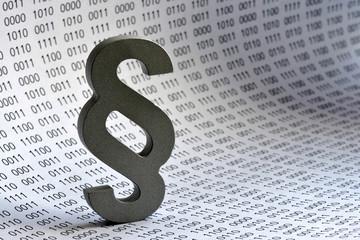 Datenschutz, Paragraph, binär, Datensicherheit, Recht, Computer