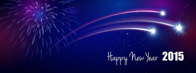Feuerwerk 2015 Happy New Year