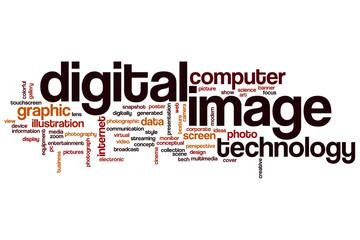 Digital image word cloud