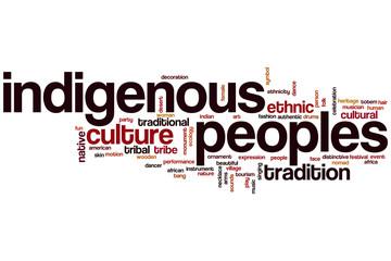 Indigenous peoples word cloud