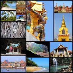 Thailand. Travel photo collage.