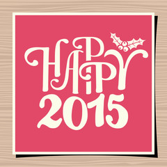 Happy New Year 2015 Greeting Card Template