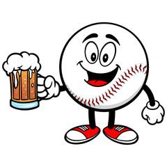 Baseball Mascot with Beer