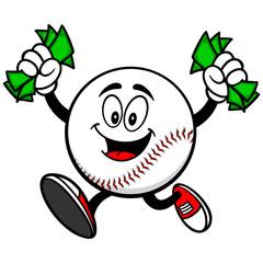 Baseball Mascot with Money