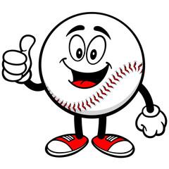 Baseball Mascot with Thumbs Up