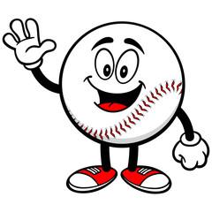Baseball Mascot Waving