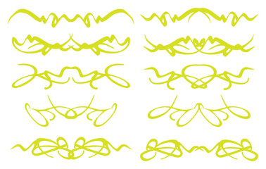 Lime Green decorative page dividers vector set