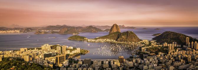 Panorama of Botafogo Bay in  Rio de Janeiro, Brazil Wall mural