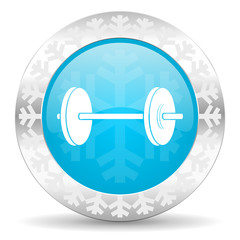 fitness icon, christmas button