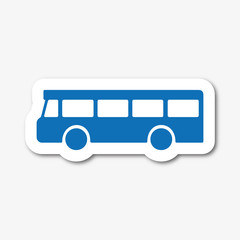 Logo bus, car, autocar.