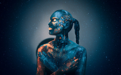 Photo sur Toile Body Paint Neon