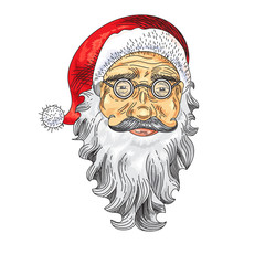 Santa Claus Face. Color Icon