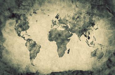 Ancient, old world map. Pencil sketch, vintage background