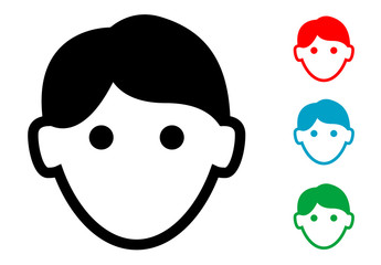 Pictograma icono hombre con varios colores