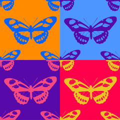 seamless butterfly background. Vector illustration.