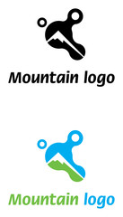 Mountain logo template abstract